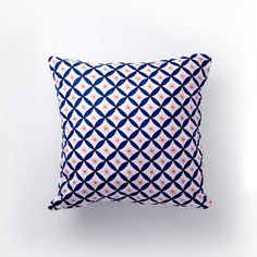Willow Wishes (Blue & Red) Pillow Cover www.naladesigns.com