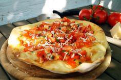 Pizzabrot mit frischen Tomaten - Cooking Italy