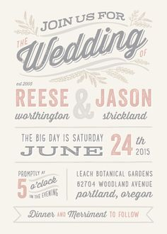 wedding invitations - Rustic Charm by Hooray Creative