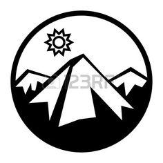 Berge und Sonne Symbol Stockfoto - 14169822
