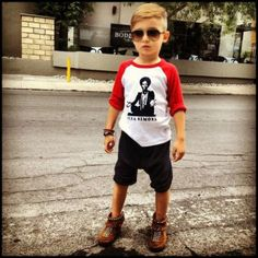 photo gallery of this one boy in very cool outfits. I love this kid. I love this mom!!!