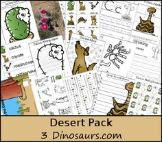 Free Desert Pack - Over 145 Pages Of Activities For Ages 2 To 9 - 3 Kindergarten Science, Preschool Curriculum, Preschool Lessons, Science Activities, Classroom Activities, Homeschooling, Language Activities, Kindergarten Classroom, Wild West Theme