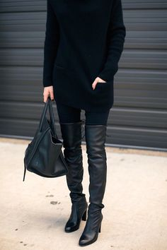 15 Black Over-The-Knee Boots To Shop Now