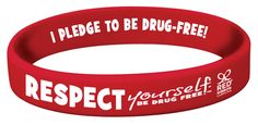 Respect Yourself. Be Drug Free.™ Silicone Bracelets are great to wear with your friends during Red Ribbon Week.