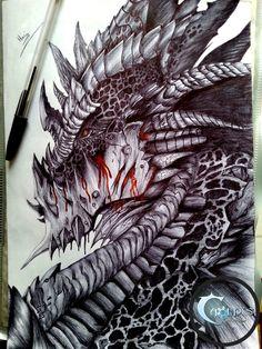 Deathwing - World of Warcraft. World Of Warcraft, Fantasy Dragon, Fantasy Art, Dragon Tattoo Drawing, Beast Creature, Dragon Sketch, Cool Dragons, Dragon Artwork, Dragon Pictures