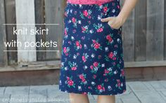 tutorial: knit skirt with pockets