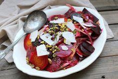 Fennel, blood orange, beet, mint and pistachio salad — Under a lemon tree