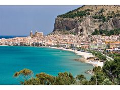 Cefalu, Sicily. Traveled here once and remembered distinctly the gracious hospitality of my ancestral home.