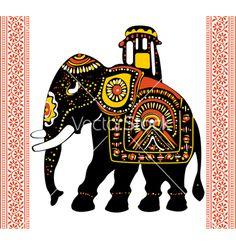 Buy Festive Indian elephant by on GraphicRiver. Vector of Festive Indian elephant. Package contains: EPS version), JPG pixels, RGB) Elephant Artwork, Elephant Images, Elephant Design, Indiana, Elephant Illustration, Colorful Elephant, Madhubani Art, Indian Elephant, Animals