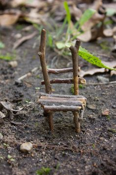 Fairy Chair  Half Ladder Back by TheLeafPile on Etsy