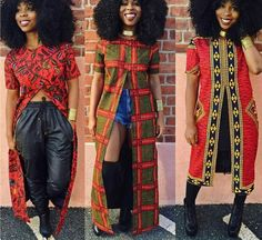 Long African Top with Front Slit, African Clothing, Women's Clothing, African Print Top african fashion African Dresses For Women, African Print Dresses, African Attire, African Wear, African Prints, African Style, African Tops For Women, African Outfits, Long African Skirt