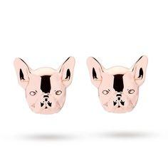 6493d8df6 🎀TED BAKER🎀 rose gold 🐾French Bulldog🐾 earrings **end of line** last  pair | eBay