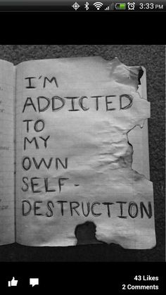depressed depression suicidal suicide eating disorder self harm self hate anorexia bulimia ana mia starve anorexic self destruction bulimic purge depressive selfharm selfhate paint-all-the-roses-black Self Destruction, Depression Quotes, Anime Depression, Secrets Revealed, How I Feel, Sad Quotes, Qoutes, Deep Thoughts, Happy Thoughts