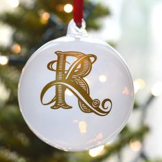 Chena Design is so excited to introduce our new monogrammed Christmas Ornament. A beautiful, timeless and one-of-a-kind decoration for your tree.