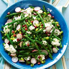 This bean salad is great as a side dish for roast lamb or as a main course with bread