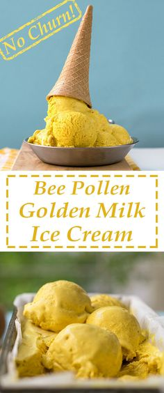 This ice cream has a secret ingredient for an extra creamy texture! Bee pollen, turmeric and some spices add a healthy dimension to maximize your pleasure!