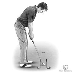 Use this simple golf putting drill to help you take the putter back on a good line and through to your target on a good line. Golf Putting Tips, Chipping Tips, Golf Instruction, Driving Tips, Play Golf, Golf Tips, Golf Ball, Golf Clubs, Drill