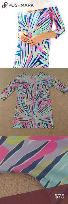 Lilly Pulitzer Cori Dress Indigo Sea Dreamin EUC Lilly Pulitzer Cori dress. Size Large. Print is indigo sea dreamin. Worn twice, washed delicate and laid flat to dry. Excellent condition. Lilly Pulitzer Dresses