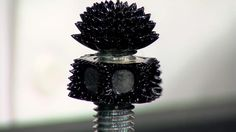 Ferrofluid is a liquid that reacts to a magnetic field. It's usually made from a mixture of oil and tiny iron particles. Today we're going to look at 4 diffe...