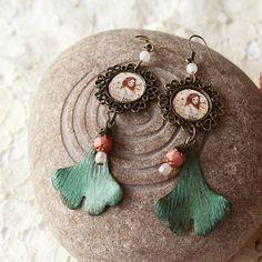 Illustrated Earrings by Minasmoke on Etsy