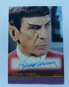Star Trek Movies Heroes & Villains Autograph Card Leonard Nimoy as Spock Star Trek Collectibles, Star Trek Original Series, Star Trek Movies, Leonard Nimoy, Hero Movie, Spock, Live Long, Stars, Fun