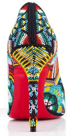 Beaded Heels, this would be a lot of work, but it would be amazing for that special occasion.  Or you could buy them, but... the cost would be very high considering how labor intensive they are. ~krissy