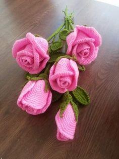 Fleurs en crochet - Rose