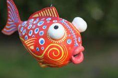 Resultado de imagen para fish in paper mache