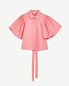 Image 8 of from Zara Womens Fashion For Work, Girl Fashion, Fashion Dresses, Fashion Design, Iranian Women Fashion, European Fashion, Crop Top Designs, Blouse Designs, How To Wear Chokers
