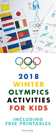 2018 PyeongChang Winter Olympics Activities for Kids | Free Printables for Families | Winter Olympics Activities and Coloring Pages