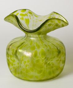 A Loetz glass vase in Papillon showing stylistic influences of Dresser