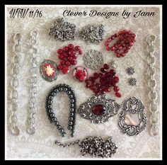 WTW .. 11/16 .. I added a few things to my work table from last week .. a bracelet, necklaces and earrings .. Clever Designs by Jann