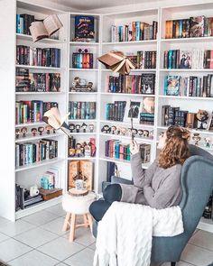 28 Trendy Home Library Ideas Bookshelves Book Nooks Home Library Rooms, Home Library Design, Dream Library, Home Libraries, Interior Design Living Room, Library Ideas, Library Bedroom, Mini Library, Bookshelf Inspiration