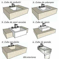 dtresarchdesignBoa tarde!  Cada cuba tem sua função certa, em cada ambiente. A escolha adequada, ajuda a otimizar espaço.Pensando em construir ou reformar, a Dtres Archdesign ajuda a colocar em prática!