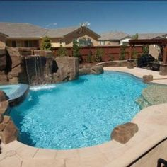 Beachy Entry Pool with Rock Features
