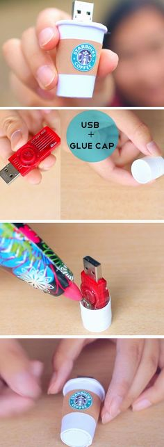 The best DIY projects & DIY ideas and tutorials: sewing, paper craft, DIY. Ideas About DIY Life Hacks & Crafts 2017 / 2018 Starbucks USB Diy Tumblr, Diy Crafts For Kids, Fun Crafts, Decor Crafts, Kids Diy, Creative Crafts, Diy Home Decor For Teens, Diy Niños Manualidades, Ideias Diy