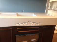 Custom Concrete Sink/Counter top for butlers pantry by The Concrete Dog Studio