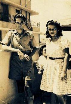 A Snap Shot of Jewish Egyptians Couple Bension & Simone Hazak in Alexandria | Summer 1940