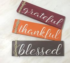 Grateful Thankful Blessed Wood Sign - Fall Home Decor Sign - Fall Fireplace Decor - Shabby Fall Home Decor - Thanksgiving Decor - Fall Gift Diy Fall Crafts diy fall crafts to sell Thanksgiving Diy, Thanksgiving Decorations, Home Decor Signs, Fall Home Decor, Fall Decor Signs, Dyi Fall Decor, Fall Decorations Diy, Shabby, Fall Fireplace Decor