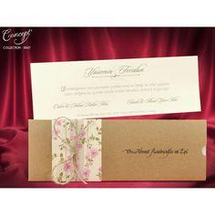Invitatii Nunta Elegante Kraft cu Flori de Cires 5547 Place Cards, Gift Wrapping, Place Card Holders, Concept, Gifts, Wedding, Ankara, Istanbul, Crafting