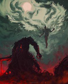 ArtStation - Time to release the beast ( Berserk ), Anato Finnstark Dark Fantasy Art, Fantasy Artwork, Dark Art, The Beast, Manga Art, Manga Anime, Anime Art, Splash Art, Male Character