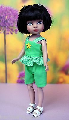 CLOTHES-for-8-Patsyette-Tiny-Betsy-McCaLL-DoLLS-2-PC-Ruffle-Top-and-Shorts-LIME