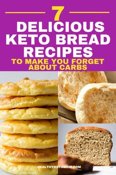 Are you wishing for some delicious bread but think you can't have any because you are on a Keto diet? Well, think again! You can have all the bread you want as long as it's Keto Bread. You might think it's hard to make but with these 7 quick and easy recipes, you'll have easy keto bread in no time. #lowcarb #ketobread # #lowcarbsnack #lowcarbbread #lowcarbrecipes #bestketobread