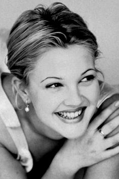 Drew Barrymore beautiful smile with white teeth.