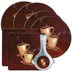 Range Kleen Hallmark 7 Piece Kitchen Decorator Set Coffee