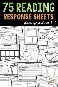 These reading comprehension worksheets are perfect for helping young readers make sense of what they read. Teach about character, plot, and setting with this giant bundle of reading response sheets! Teaching Language Arts, Teaching Writing, Teaching Ideas, Reading Response, Reading Skills, Reading Comprehension Worksheets, Beginning Reading, Phonics Activities, Writing Workshop