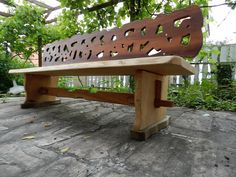 Gartenbank Design Holz Massiv