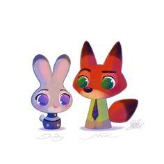Fanart de #Zootopie le nouveau #Disney à découvrir dès aujourd'hui au cinéma en…