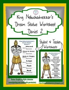 Daniel and King Nebuchadnezzar's Dream Worksheet Freebie added to TPT! Student worksheet & teachers answer sheet are both included.