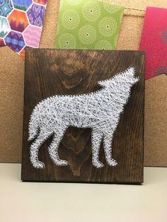 String Art Wolf Wolf decor Woodland Nursery Woodland Baby